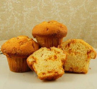 BNJUM 4.5 oz. Butter Rum Muffins - Cut Open Image