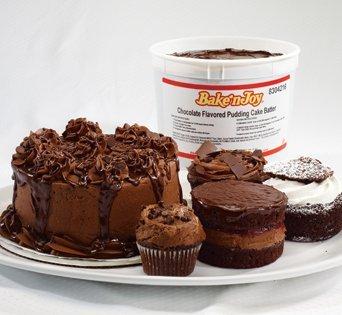 BNJUM Chocolate Pudding Cake Batter - Cut Open Image