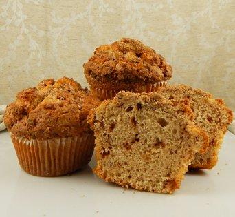 BNJUM 6.25 oz. Cinnamon Coffee Cake Muffins - Cut Open Image