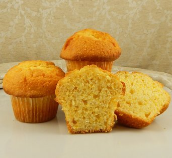 BNJUM 4.5 oz. Corn Muffins - Cut Open Image