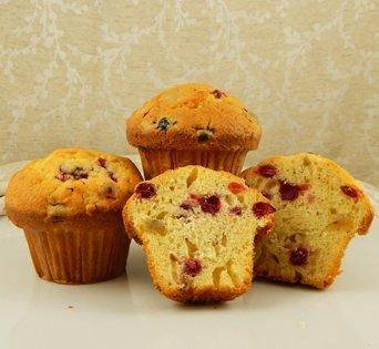 BNJUM 4.5 oz. Cranberry Orange Nut Muffins - Cut Open Image