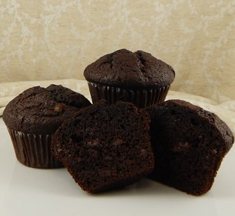 BNJUM 6.25 oz. Double Chocolate Muffins - Cut Open Image