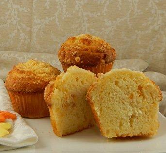 BNJUM 6.25 oz. Peach Muffins - Cut Open Image
