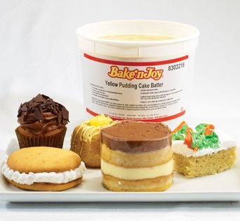 BNJUM Yellow Pudding Cake Batter - Cut Open Image