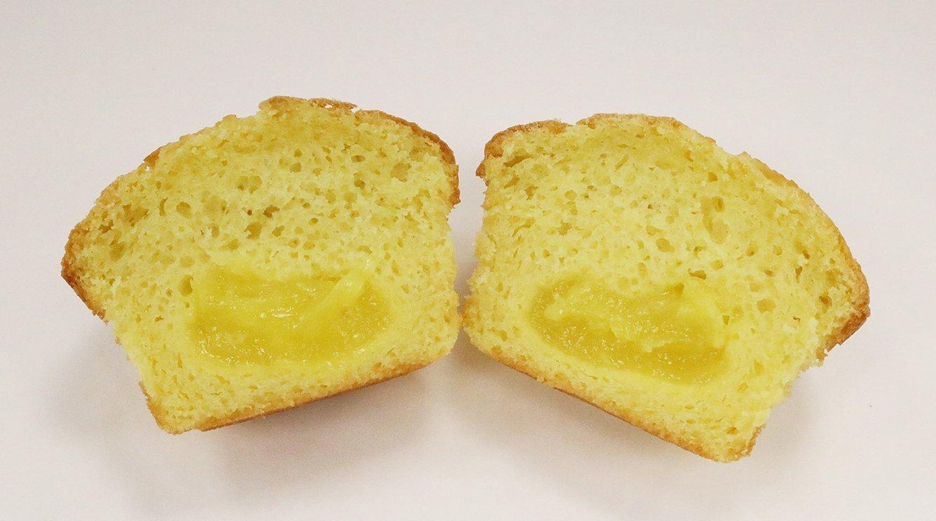 BNJO 6.25 oz. Lemon Filled Lemon Flavored Muffins - Cut Open Image